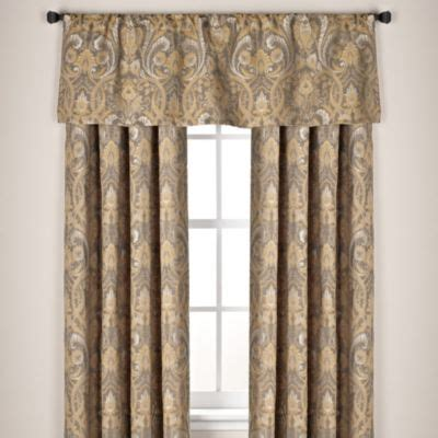 buy curtain rod for valance and curtains from bed bath