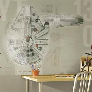 RoomMates 90 in. x 72 in. Star Wars Millennium Falcon ...