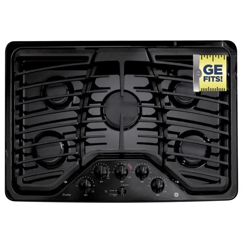 ge profile gas cooktop ge profile 30 in gas cooktop in black with 5 burners