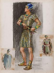 JOHN JENSEN COSTUME SKETCH FOR YUL BRYNNER FROM THE TEN ...