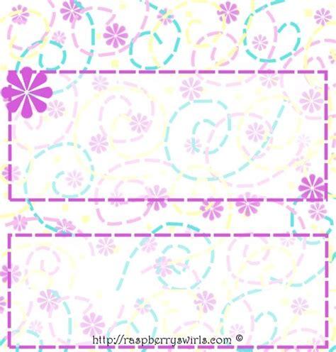 printable  flower power candy bar wrapper