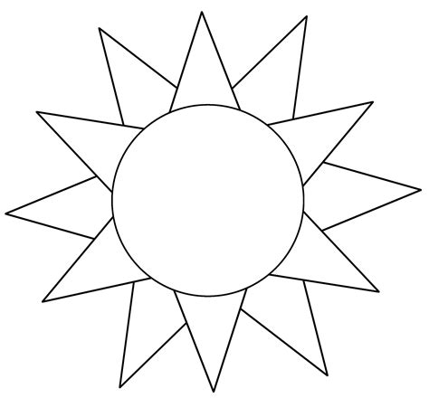 sun template printable  loving printable