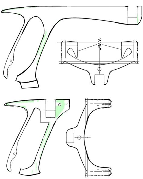 slingshot template oak ply cherry mini ship slingshots slingshot forum