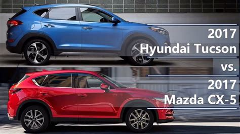 2017 Hyundai Tucson Vs 2017 Mazda CX-5 (technical