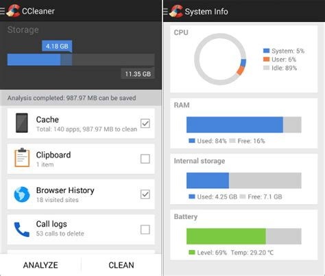 cleaners for android piriform releases ccleaner beta for android