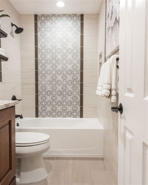 shower wall features  center panel  accent tiles