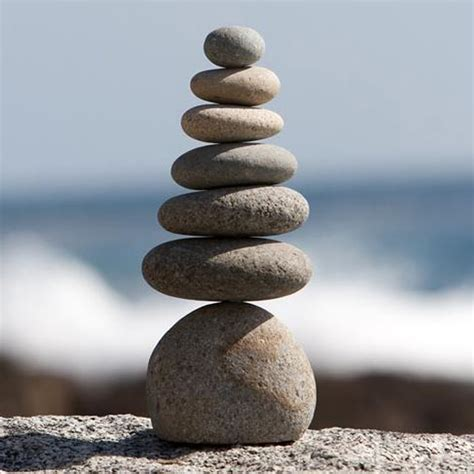 stacked rocks the crabby nook rock cairn 7 stacked septuple zen garden pile natural river stone 40 00