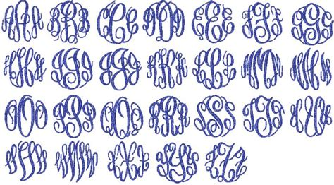 Fonts For Names And/or Monograms