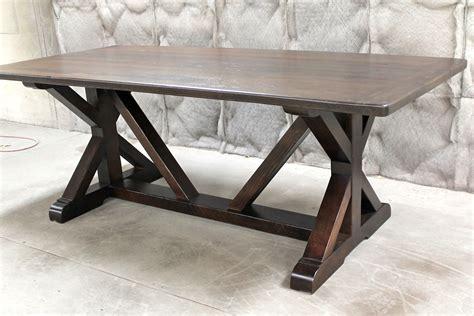 restoration hardware inspired  base trestle table