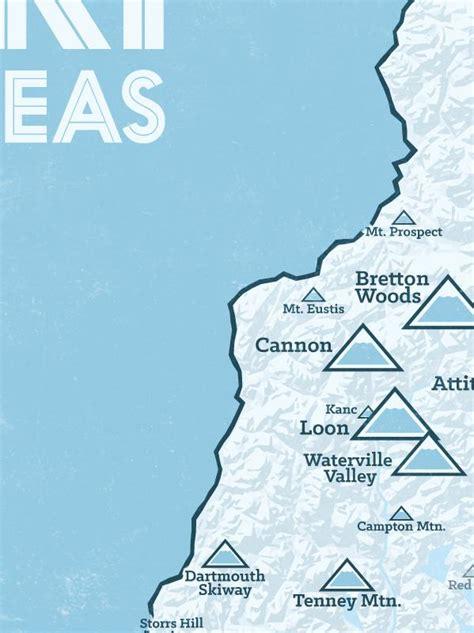 hampshire ski resorts map  poster  maps
