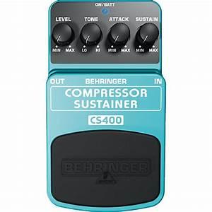 Behringer Cs400 Compressor  Sustainer Guitar Effects Pedal