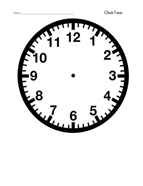 Clock Template Blank Clock Template Printable Activity Shelter