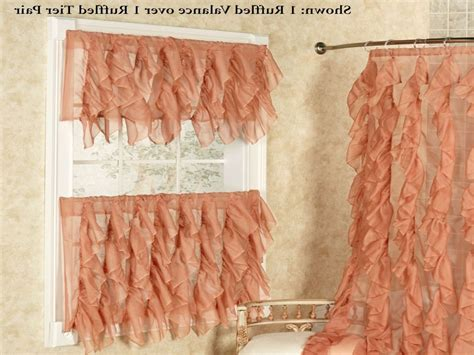 Cascade Sheer Voile Ruffled Tier Window Treatment For Sheer Kitchen Curtains Best Way To Install Curtain Rods Target World Map Shower Striped Linen Fabric For Curtains Bath Bliss Expandable 42 72 Inch Curved Rod White Blackout With Bronze Grommets How Block Light Without Custom Made In Bangalore I Need