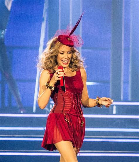 KYLIE MINOGUE Performs at Kiss Me Once Tour at O2 Arena in ...