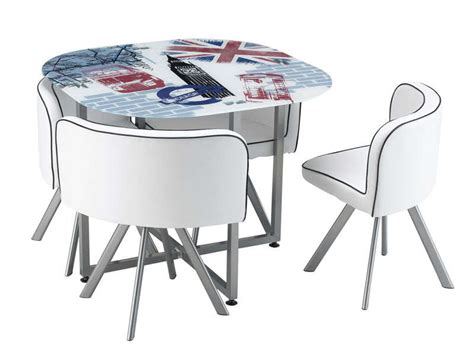 table encastrable cuisine ensemble table 4 chaises union vente de ensemble table