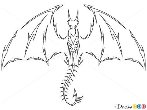 dragon tattoo drawing   draw tribal tattoos