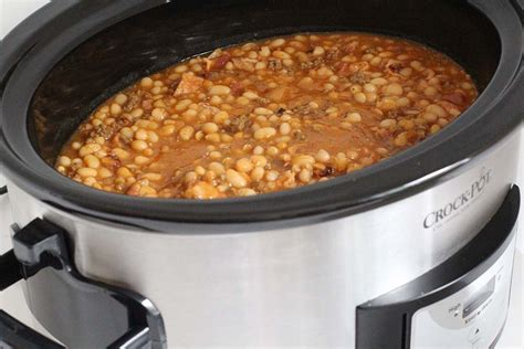 cooker baked beans slow cooker baked beans thirty handmade days
