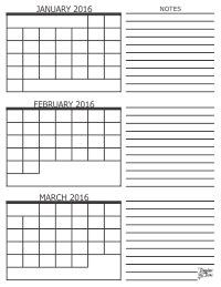 Three Month Calendar Template Trove by 3 Month Calendar 2016