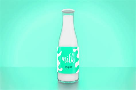 Liquor bottle design mockup to present any designs in style. Free Milk Bottle PSD Mockup | Mockuptree
