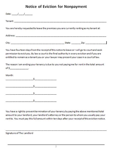 eviction template 47 eviction notice templates sle letters free template downloads