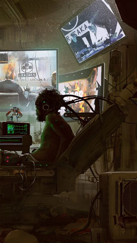 wallpaper cyberpunk  gamescom  artwork poster