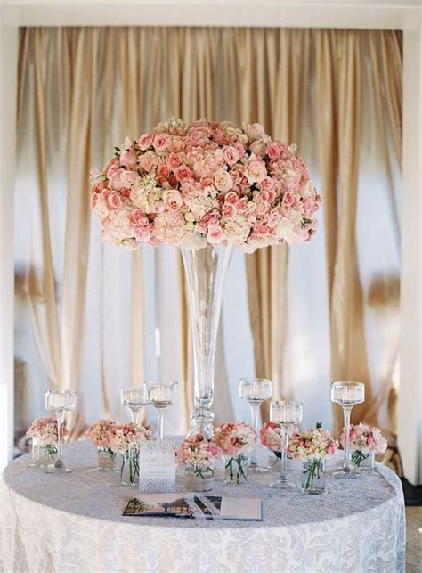 white flower table l pink and white flowers in tall fluted vase white flowers