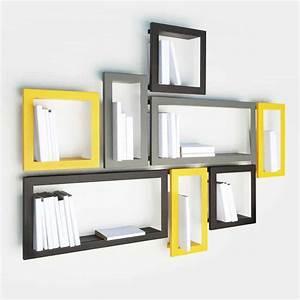 Etagere Murale Jaune : creative wall decoration with picture frame shelves ~ Teatrodelosmanantiales.com Idées de Décoration
