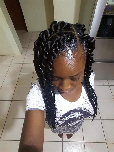 xpression braids with rubberbands protective hairstyle