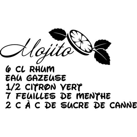 stickers recette de cuisine sticker cuisine recette mojito eau gazeuse stickers
