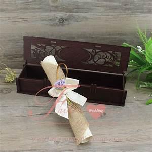 scroll wedding invitation in a box hemp wedding invitation With scroll wedding invitations in a box