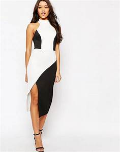 image 4 asos robe moulante mi longue asymetrique a With robe midi moulante