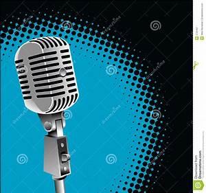 Vintage Microphone Background Stock Vector - Illustration ...