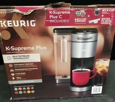 — enter your full delivery address (including a zip code and an apartment number), personal details, phone number, and an email address.check the details provided and confirm them. Keurig K-Supreme Plus Single Serve Coffee Maker, w/ 15 K-Cup Pods Open Box | eBay