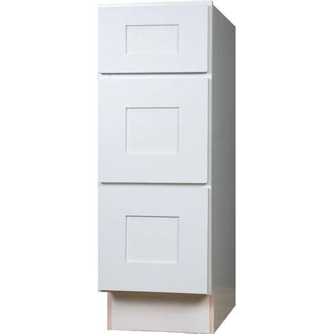 soft close cabinet door der bathroom vanity three drawer base cabinet in shaker white
