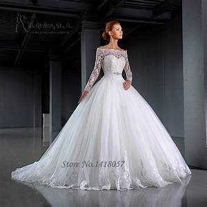 aliexpresscom buy 2016 design white long sleeve wedding With long sleeve white lace wedding dress