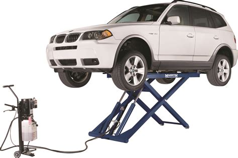 Types-of-car-lifts-low-mid-rise-hinged-lift-blue