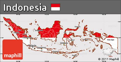 flag simple map  indonesia