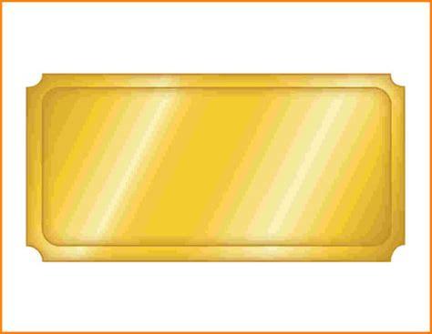 blank golden admission ticket template sample  basic