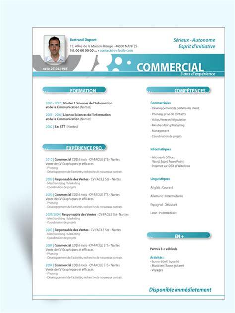 Modele Cv Facile by Mod 232 Le Cv Original Commercial Ii