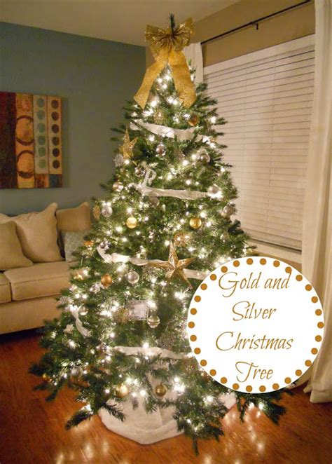 gold  silver christmas tree