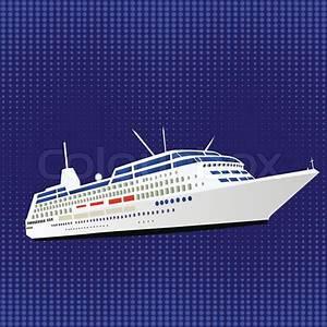 Vector ocean liner cruise ship icon. Motor vessel ...