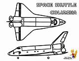 Shuttle Space Coloring Columbia Nasa Yescoloring Spectacular sketch template