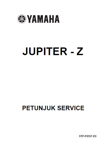 buku manual motor buku manual yamaha jupiter