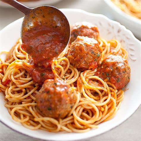 classic spaghetti and meatballs america s test kitchen classic spaghetti and meatballs for a crowd cook s 49806