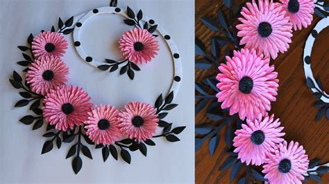 In this awesome paper flower wall hanging by kalakar supriya on youtube, you will learn this easy this paper wall hanging is so simple to make and the results are phenomenal. Paper Flower Wall Hanging- Easy Wall Decoration Ideas ...