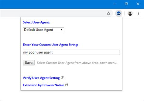 user agent extension switcher chrome