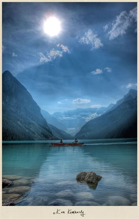 Beautiful Lake Louise In Banff National Park Alberta