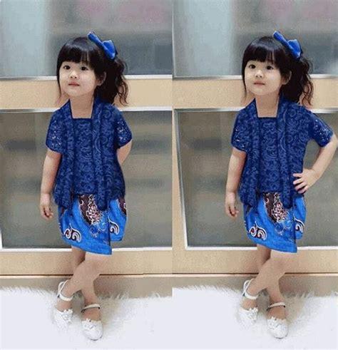 model batik anak kombinasi cewek model baju muslimah