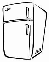 Fridge Refrigerator Fridges Template Coloring Pages Talking Sketch sketch template