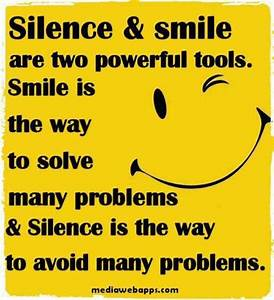 Funny Quotes Si... Smile N Silence Quotes